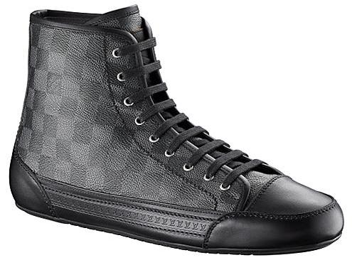 84647b3798c8 Louis Vuitton Damier Graphite Sneakers  - Fall Winter 09 Look ...